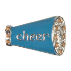 C/Z Dawg Tag Shoe Charm - Megaphone with Crystals