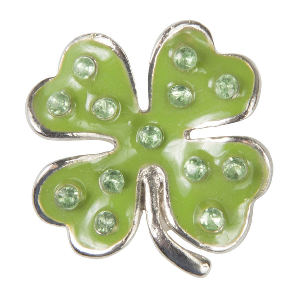 C/Z Dawg Tag Shoe Charm - Clover with Crystals