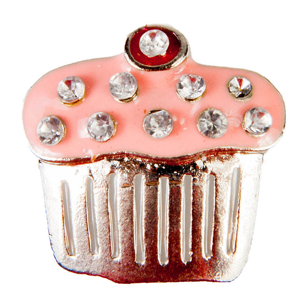 C/Z Dawg Tags Shoe Charms - Cupcake with Crystals