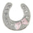 C/Z Dawg Tag Shoe Charm - Horse Shoe with Crystals
