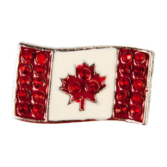 C/Z Dawg Tag Shoe Charm - Canadian Flag with Crystals