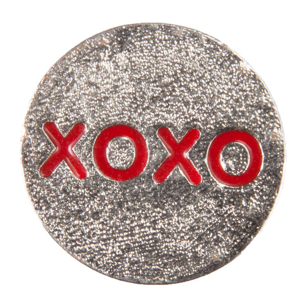 Enamel Dawg Tags Shoe Charms - XOXO