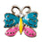 Mini Dawg Tag Shoe Charm - Blue & Pink Butterfly