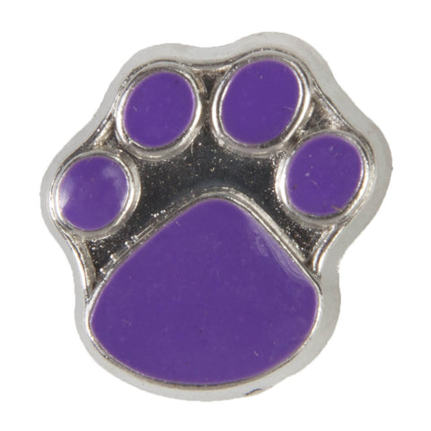 Mini Dawg Tag Shoe Charm - Purple Paw