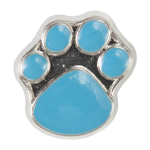 Mini Dawg Tag Shoe Charm - Blue Paw