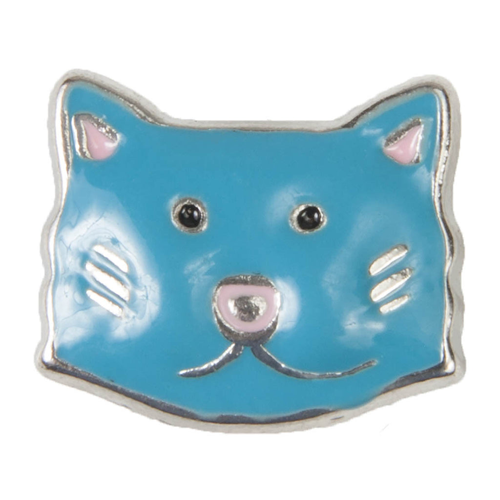 Mini Dawg Tags Shoe Charms - Blue Cat