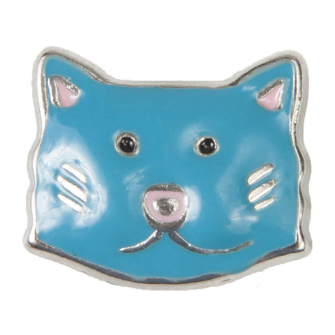 Mini Dawg Tag Shoe Charm - Blue Cat