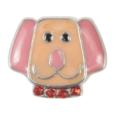 Mini Dawg Tag Shoe Charm - Pink Dog