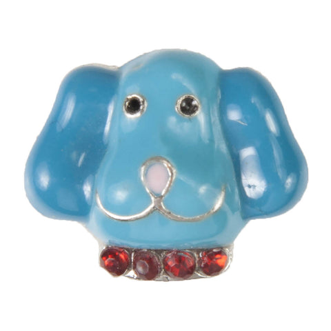 Mini Dawg Tag Shoe Charm - Blue Dog