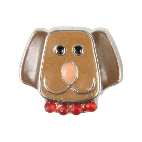 Mini Dawg Tag Shoe Charm - Tan Dog