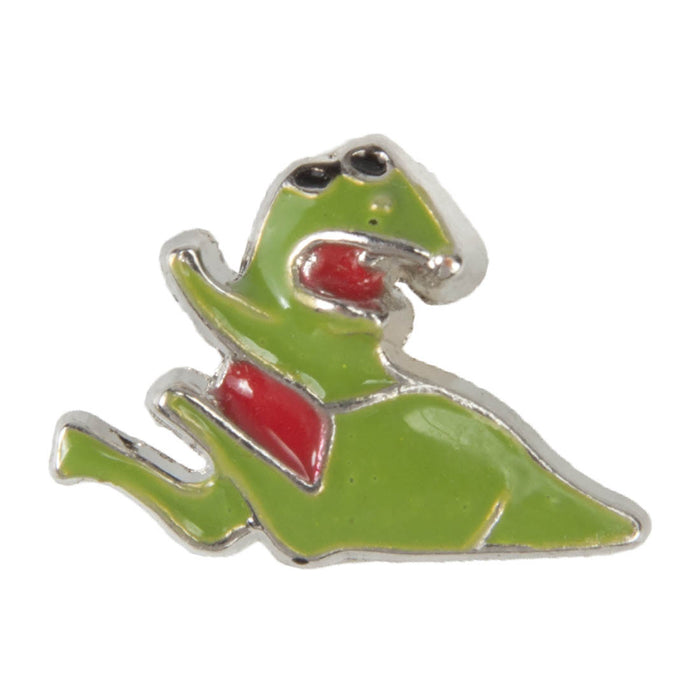 Mini Dawg Tag Shoe Charm - Dinosaur with Red Belly