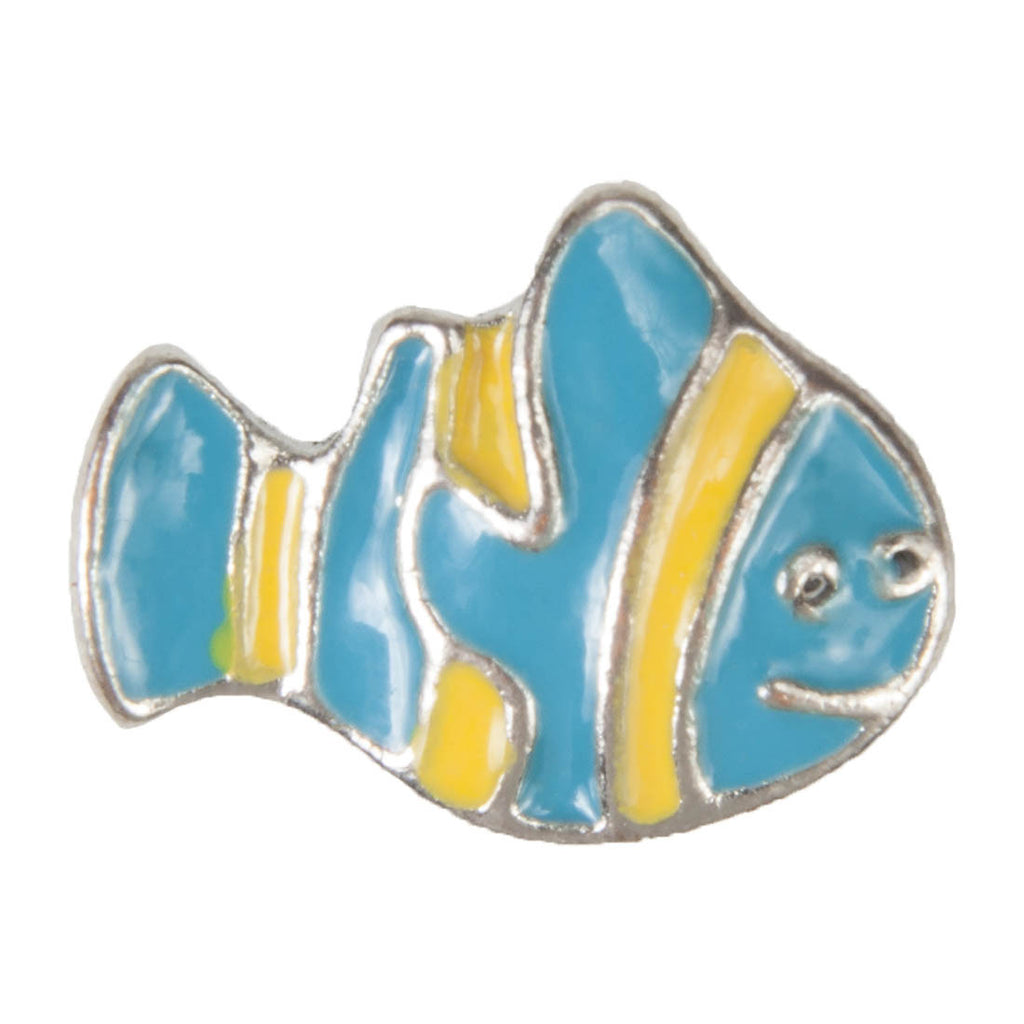 Mini Dawg Tags Shoe Charms - Blue Clownfish