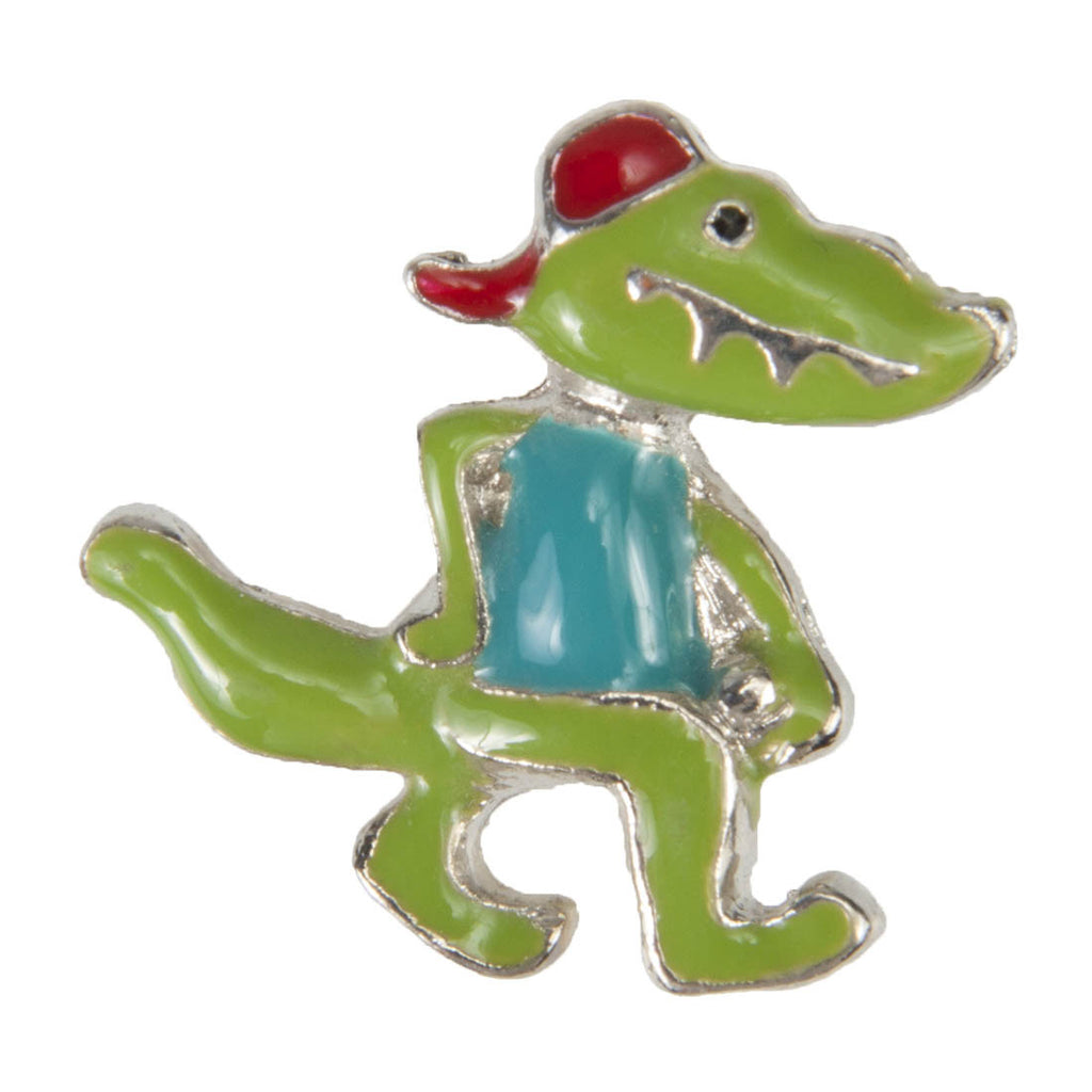 Enamel Dawg Tags Shoe Charms - Crocodile