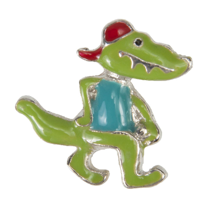 Enamel Dawg Tag Shoe Charm - Crocodile