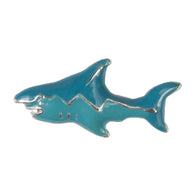 Enamel Dawg Tag Shoe Charm - Shark