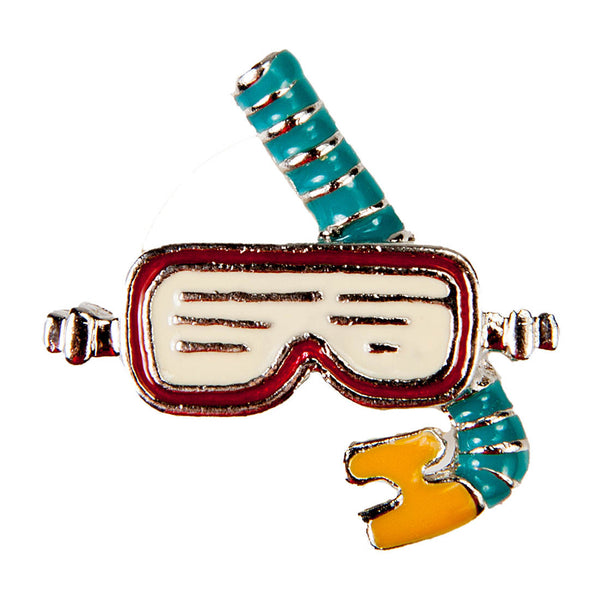 Enamel Dawg Tags Shoe Charms - Snorkel & Mask