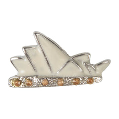 C/Z Dawg Tag Shoe Charm - Sydney Opera House with Crystals