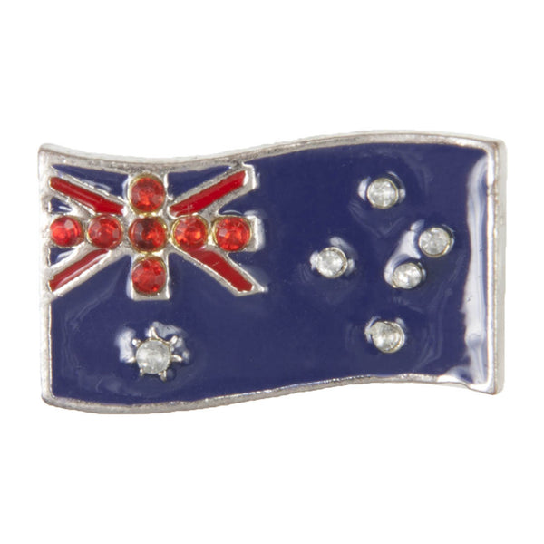 C/Z Dawg Tag Shoe Charm - Australian Flag with Crystals