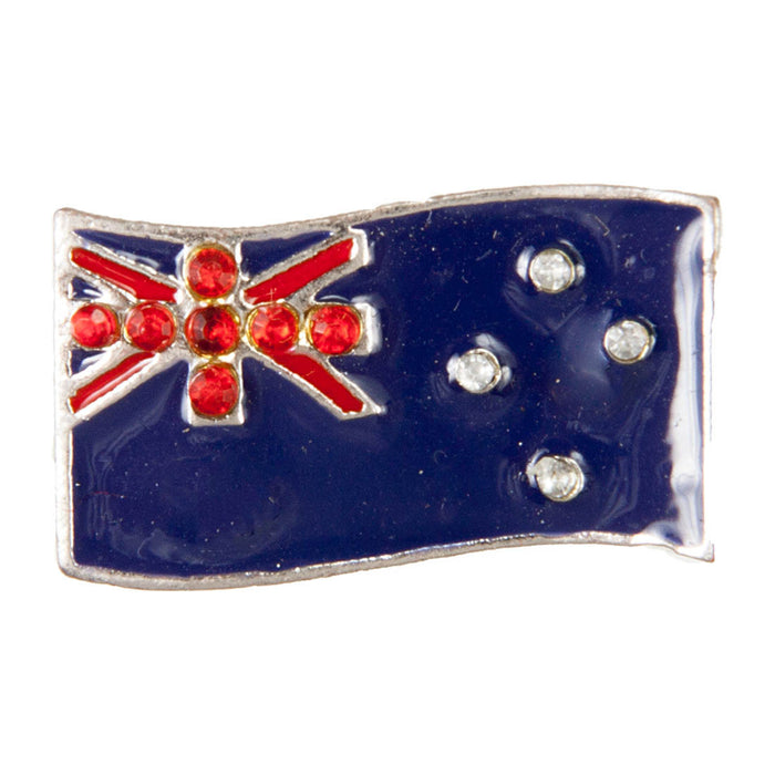 C/Z Dawg Tag Shoe Charm - New Zealand Flag with Crystals