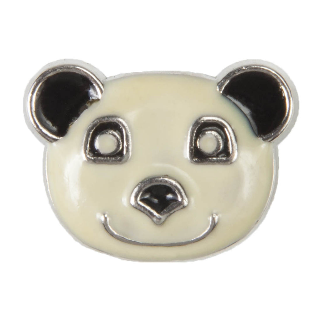 Enamel Dawg Tags Shoe Charms - Panda