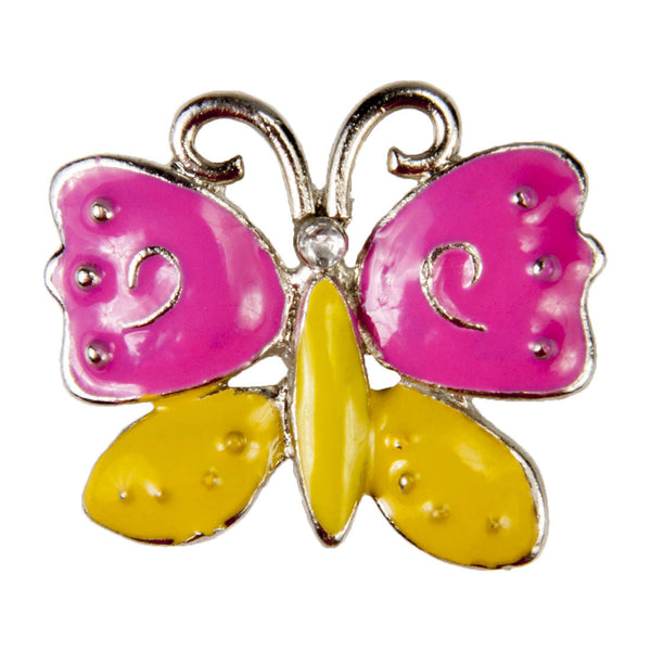Enamel Dawg Tags Shoe Charms - Butterfly