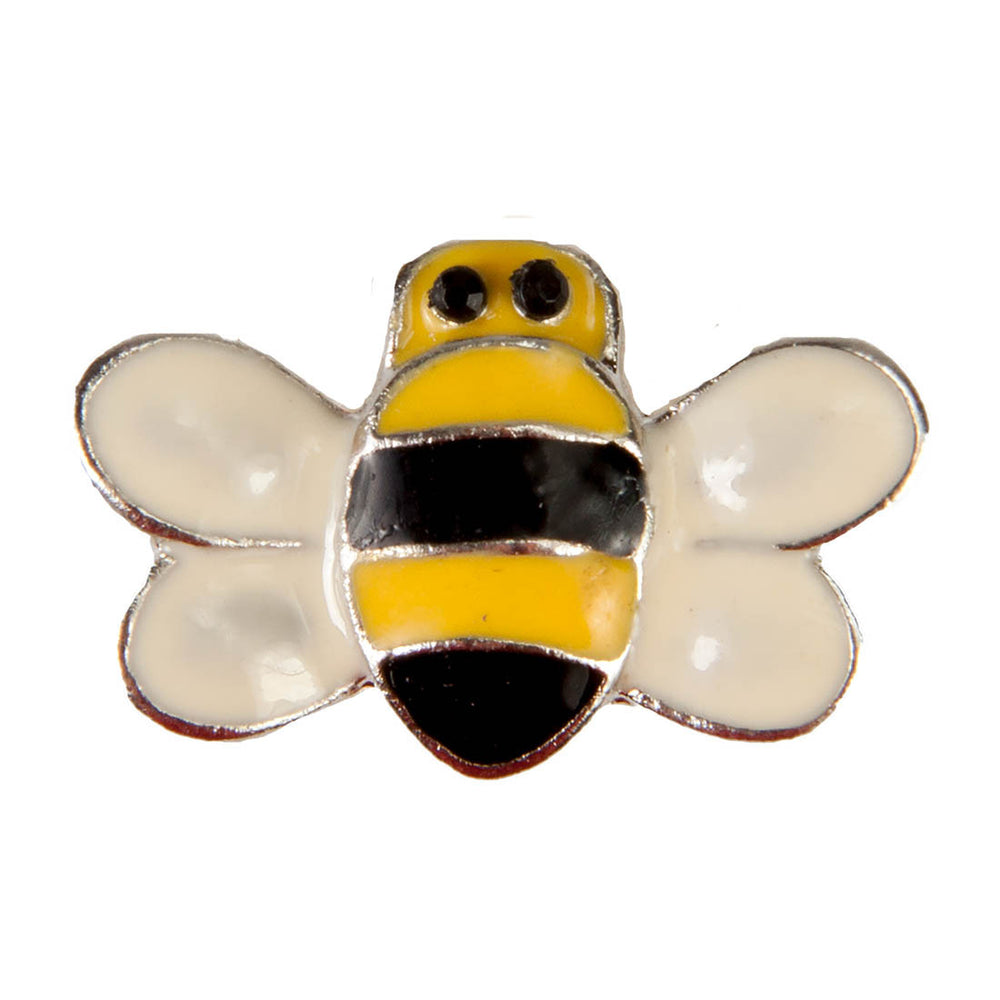 Enamel Dawg Tag Shoe Charm - Bee