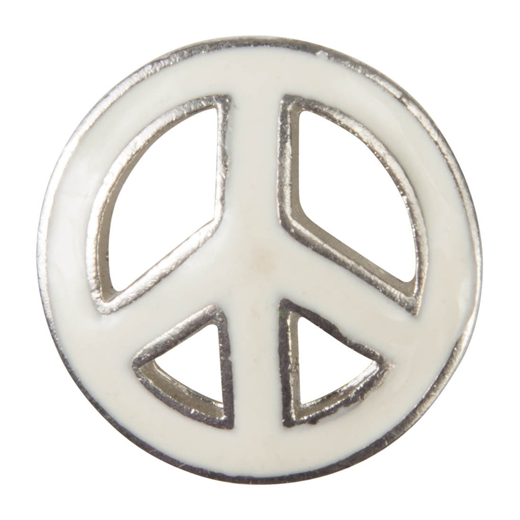Enamel Dawg Tags Shoe Charms - Peace Sign