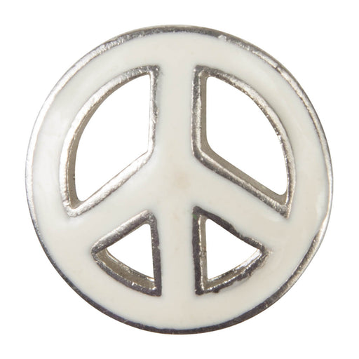Enamel Dawg Tag Shoe Charm - Peace Sign