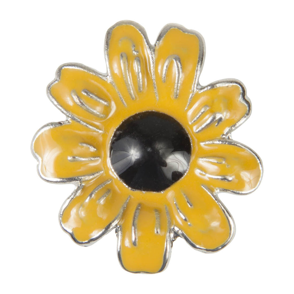 Enamel Dawg Tags Shoe Charms - Sunflower