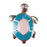 Enamel Dawg Tag Shoe Charm - Turtle