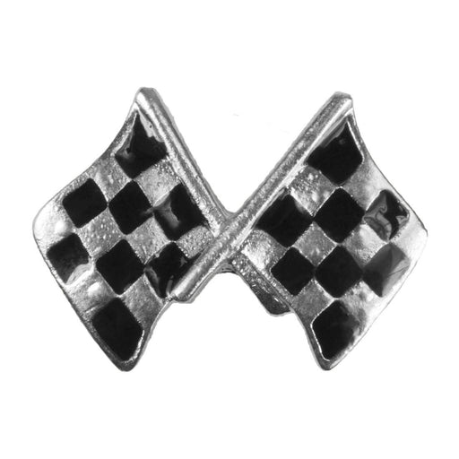 Enamel Dawg Tag Shoe Charm - Checkered Flags