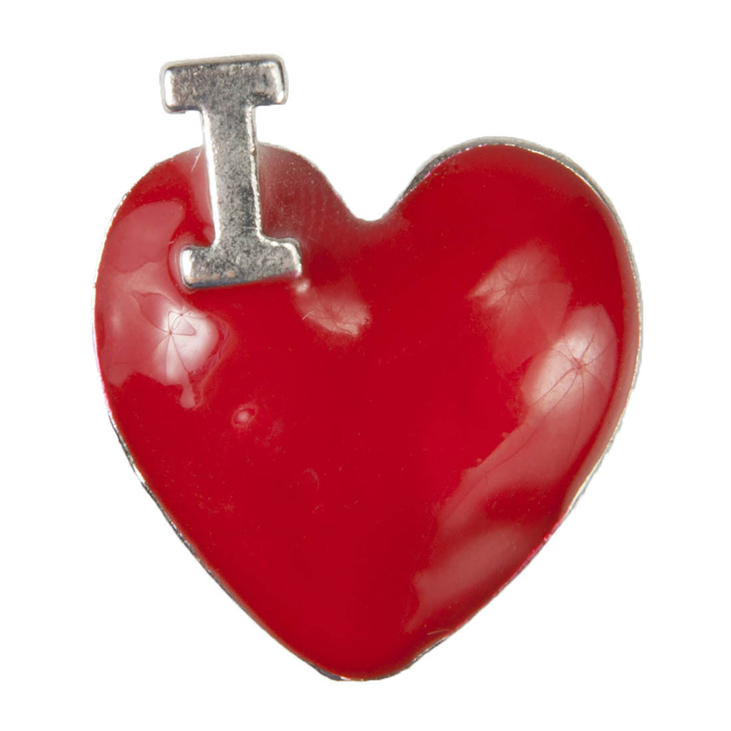 Enamel Dawg Tags Shoe Charms - I Heart