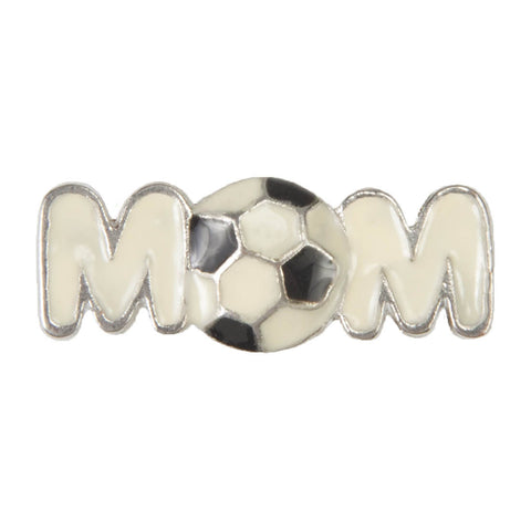Enamel Dawg Tag Shoe Charm - Soccer Mom