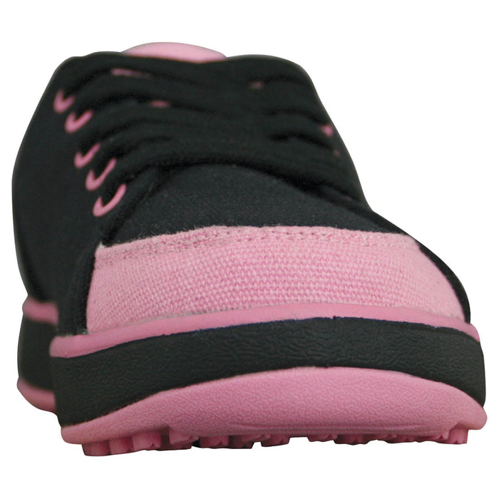 Women's Crossover Golf Shoes - Black with Soft Pink
