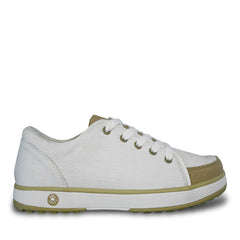 Women's Crossover Golf Shoes - White with Tan