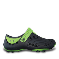 Boys' Spirit Golf Shoes - Navy with Lime Green