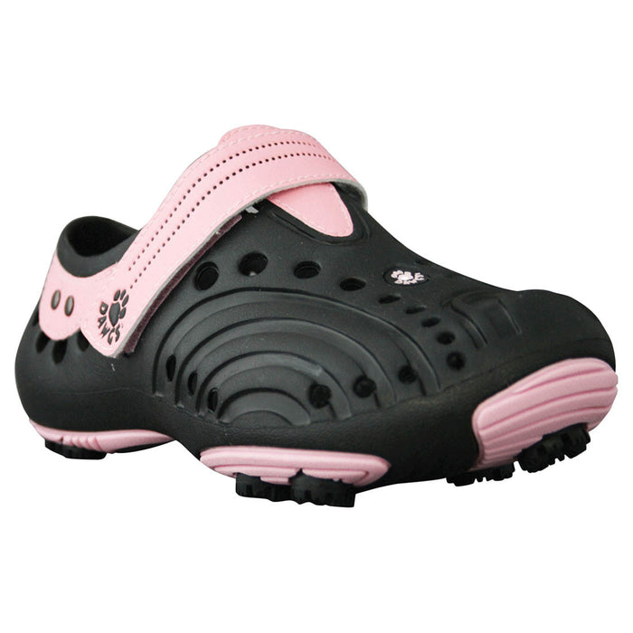Girls' Spirit Golf Shoes - Black with Soft Pink