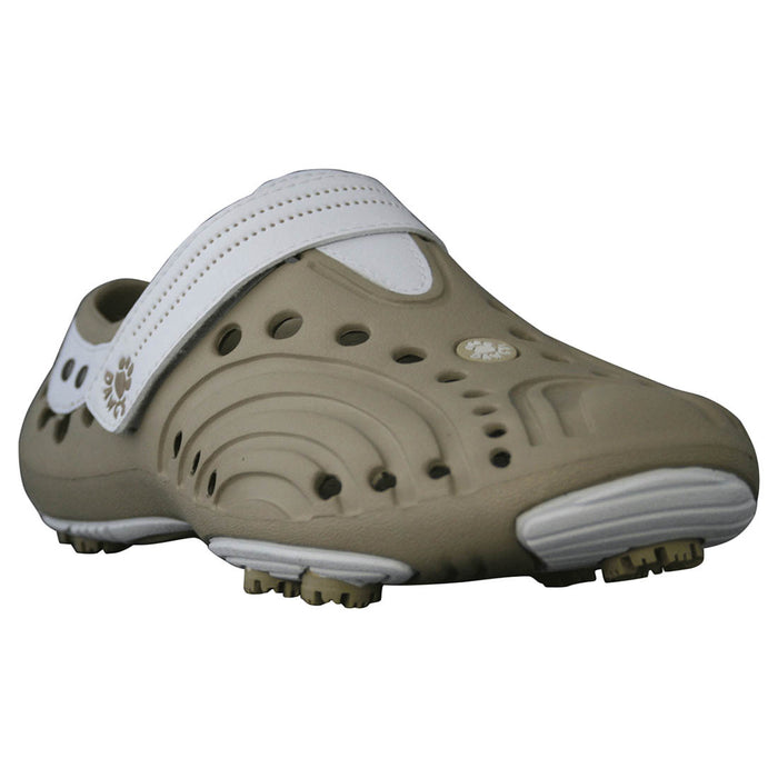 Girls' Spirit Golf Shoes - Tan with White