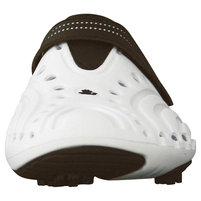 Men's Spirit Golf Shoes - White with Brown