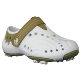 Men's Spirit Golf Shoes - White with Tan (Special Offer)