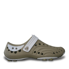 Women's Spirit Golf Shoes - Tan with White