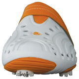 Women's Spirit Golf Shoes - White with Orange