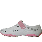 Women's Spirit Golf Shoes - White with Soft Pink