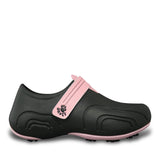 Women's Ultralite Golf Shoes - Black with Soft Pink
