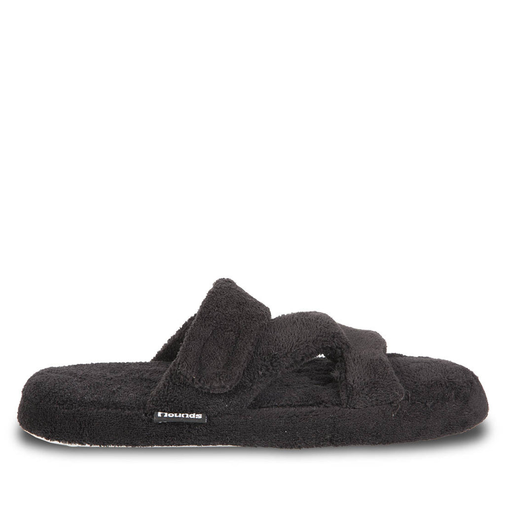 Hounds Women's Fluffy Z Slippers - Black
