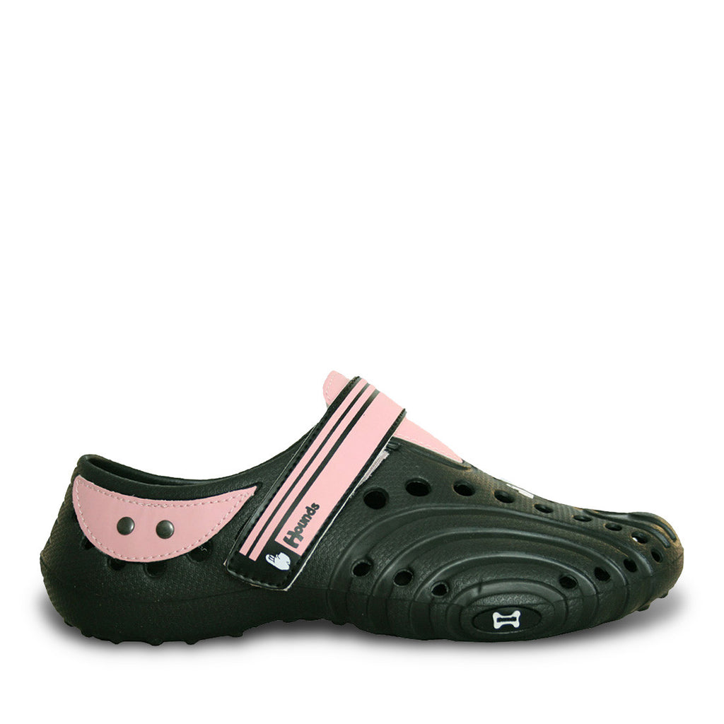 Hounds Women's Ultralite Shoes - Black with Soft Pink