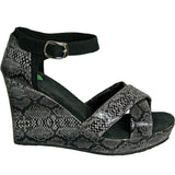 Women's Kaymann 4-inch Sandal Wedges - Black Diamondback (Special Offer)