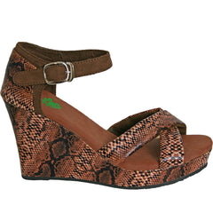 Women's Kaymann 4-inch Sandal Wedges - Brown Diamondback (Special Offer)