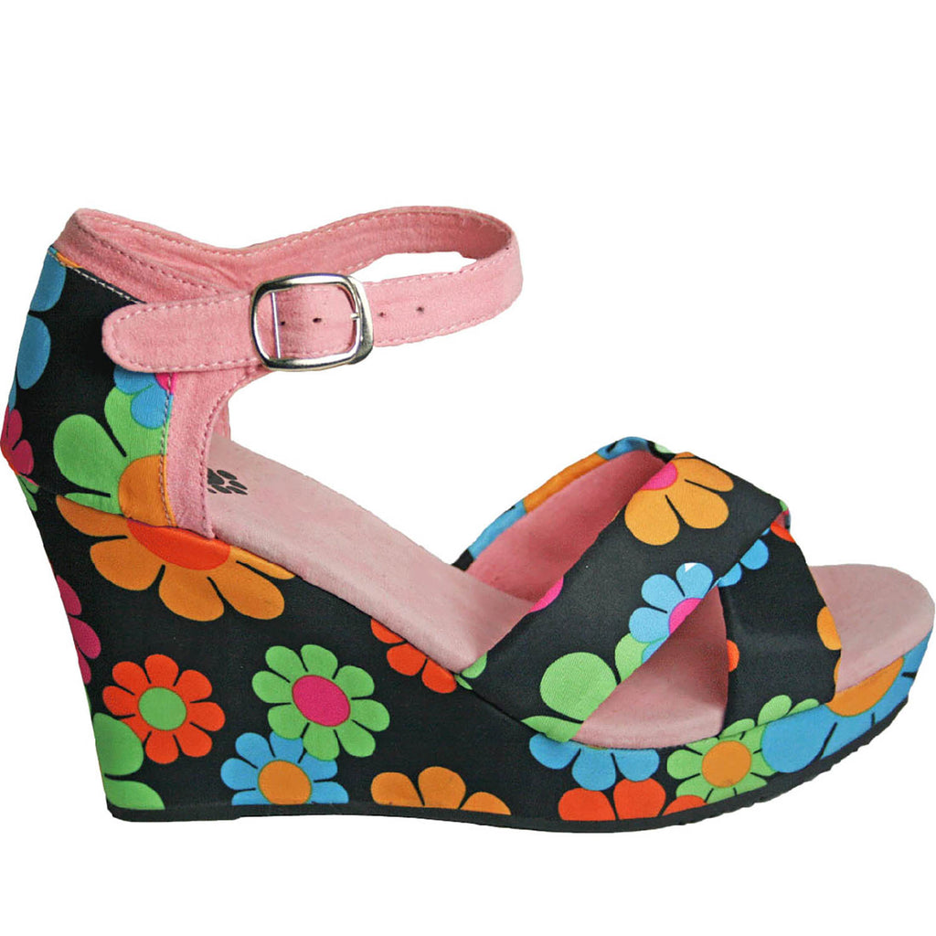 Women's Kaymann 4-inch Sandal Wedges - Magic Bus (Special Offer)