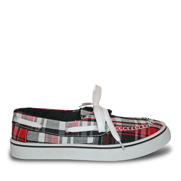 Women's Kaymann Boat Shoes - Red Plaid